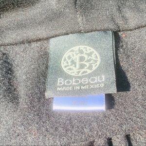 bobeau Sweaters - Bobeau Black One-Button Fleece Wrap Cardigan